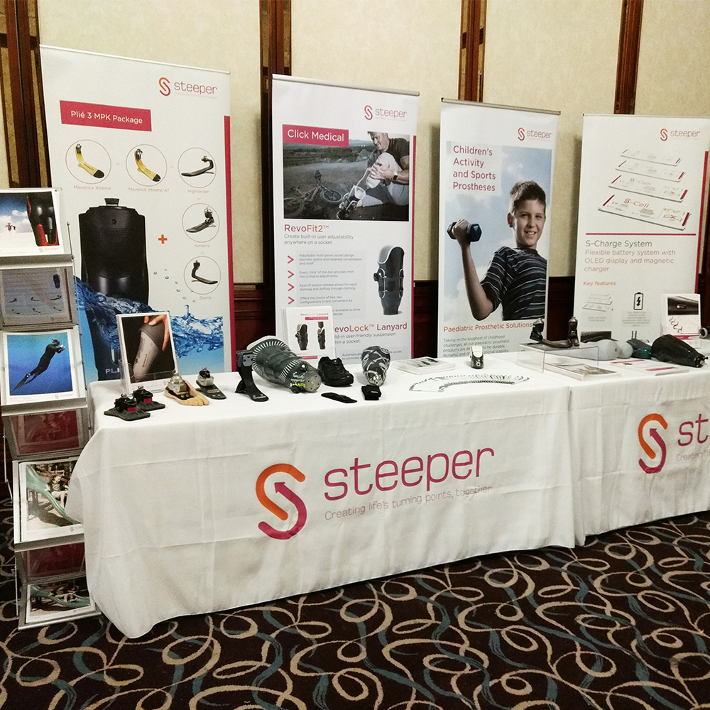 Steeper Attends Prosthetics Events Nationwide